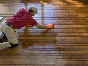 How to Re-finish Worn Hardwood Flooring